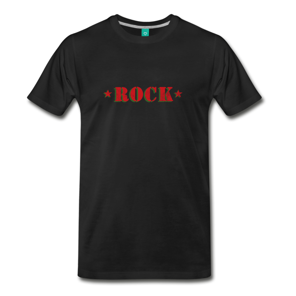 ROCK t-shirt on a premium unisex T-shirt - black