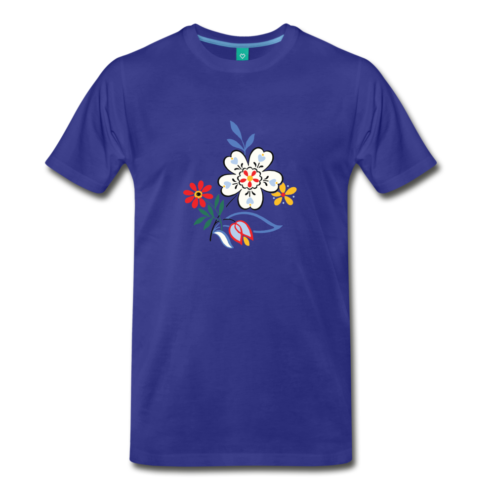 Flower design from 1940 on a premium unisex T-shirt - royal blue