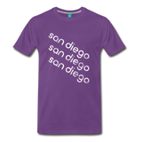 on a premium unisex T-shirt - purple