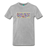 Ancient illuminated art - on a premium unisex T-shirt - heather gray