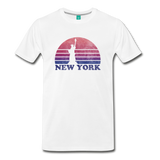 NEW YORK state T-shirt: Vintage-style distressed graphic on a premium unisex shirt - white