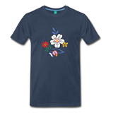 Flower design from 1940 on a premium unisex T-shirt - navy
