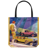 Tote bag with classic cars from 1929