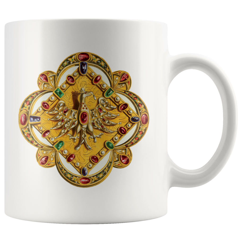 Mug featuring the royal clasp of Charles V, Holy Roman Emperor - Drawn around 1850
