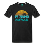 HAWAII state T-shirt: Vintage-style distressed graphic on a premium unisex shirt - black