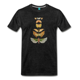 1917 butterflies on a premium unisex T-shirt - charcoal gray