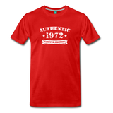 on a premium unisex T-shirt - red