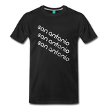 SAN ANTONIO city T-shirt: Vintage-style distressed graphic on a premium unisex shirt