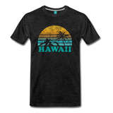 HAWAII state T-shirt: Vintage-style distressed graphic on a premium unisex shirt - charcoal gray