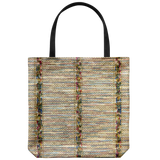 Tote bag with a stitched fabric-look pattern from 1921