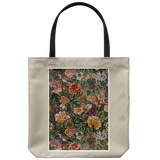 Tote bag with Chinese flowers & birds pattern from 1914