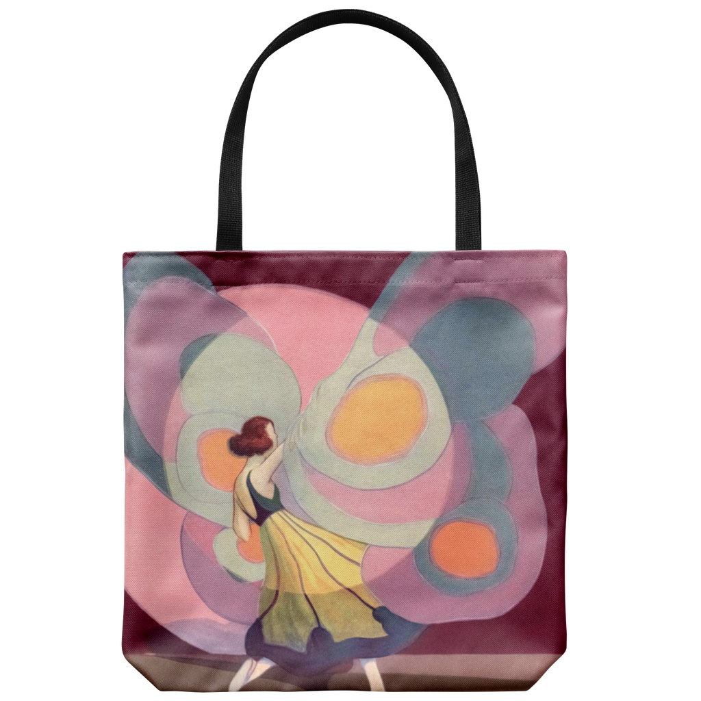 Tote bag with butterfly dancer - art from the 1920s