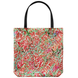 Tote bag with vintage 1933 colorful abstract art in 5 colors
