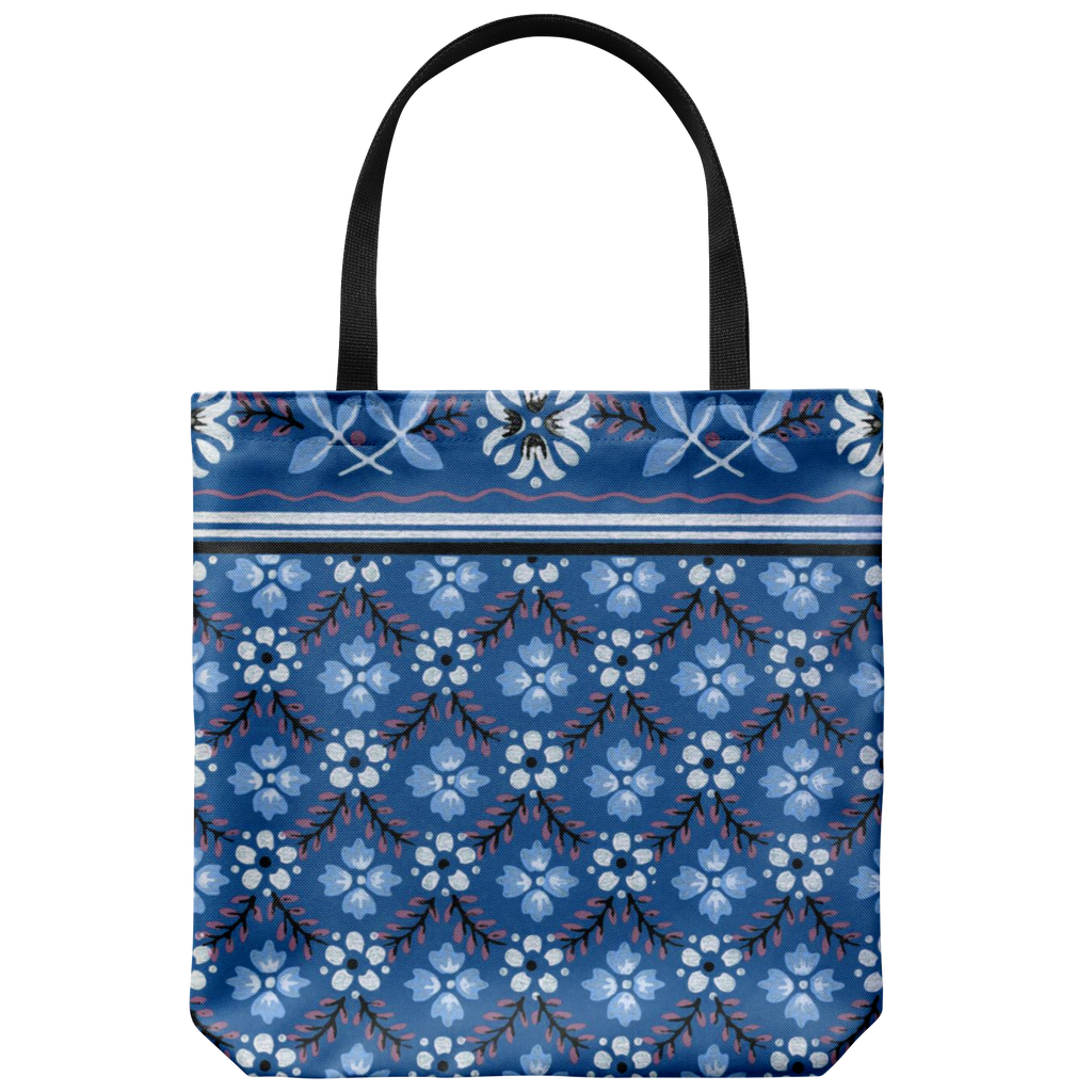 Tote bags with a traditional pattern from the '50s - Available in 5 colors