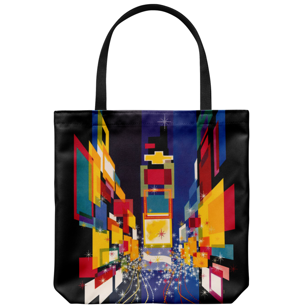 Tote bag with abstract New York City graphic