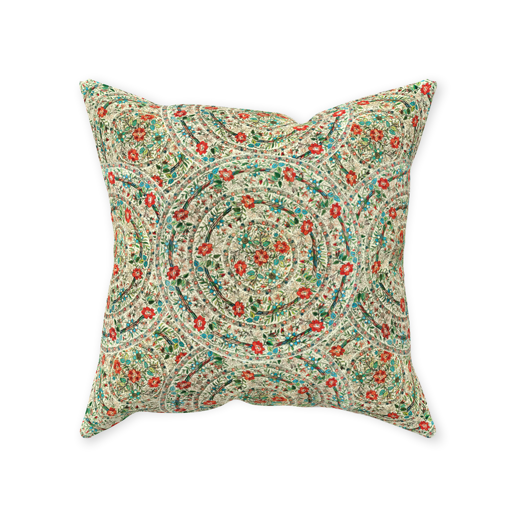Ankara pattern throw pillows with vintage Turkish embroidery design