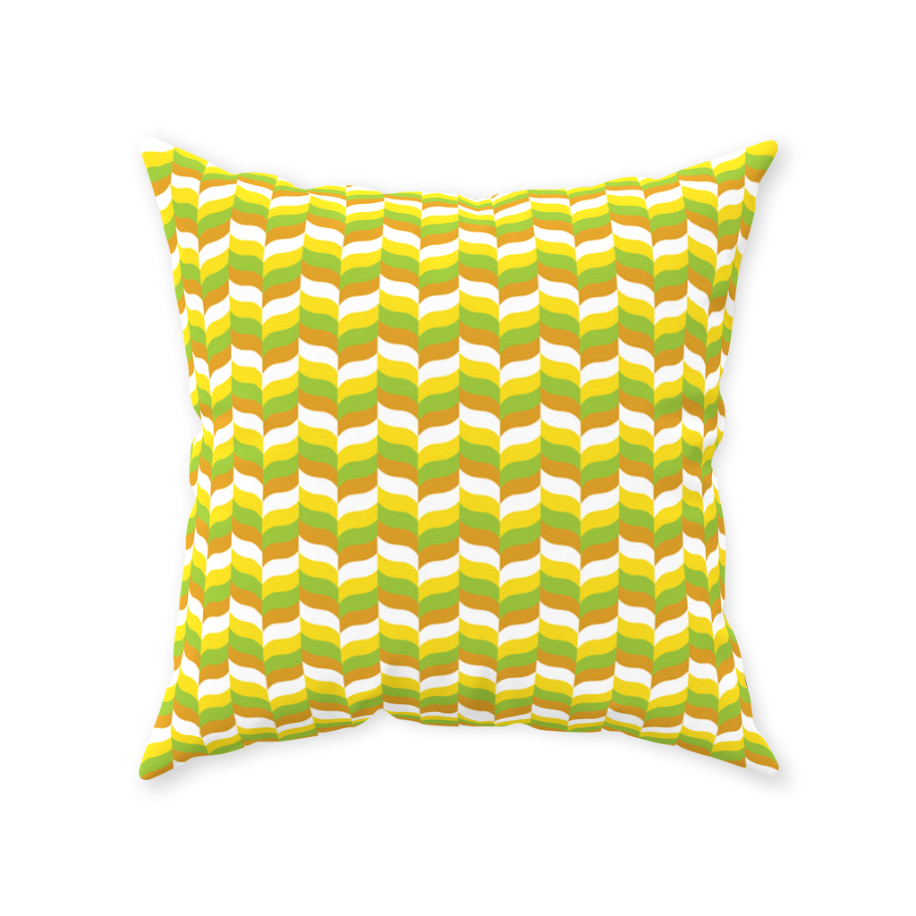 Modfeather retro-style pattern throw pillows in green