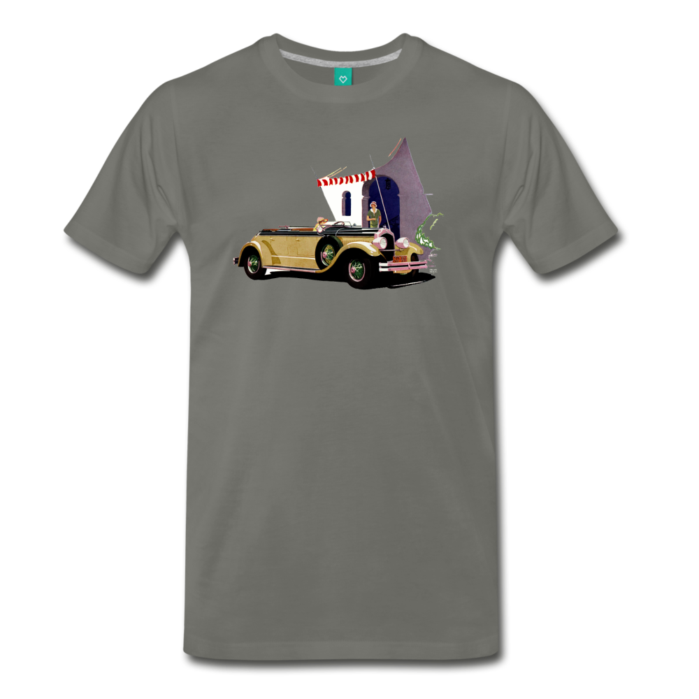 Chrysler Imperial 80 - A classic car from 1927 on a unisex T-shirt - asphalt gray