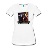 Funny women's T-shirt: The best part of most parties - premium women's short-sleeve tee - white