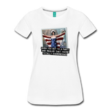 Funny women's T-shirt: You're totally overdressed - premium women's short-sleeve tee - white