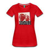Funny women's T-shirt: Order the wrong size - premium women's short-sleeve tee - red