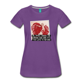 Funny women's T-shirt: Order the wrong size - premium women's short-sleeve tee - purple