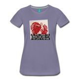 Funny women's T-shirt: Order the wrong size - premium women's short-sleeve tee - washed violet