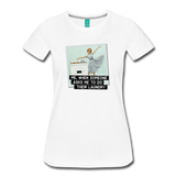 Funny women's T-shirt: Do the laundry - premium women's short-sleeve tee - white