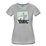 Funny women's T-shirt: Do the laundry - premium women's short-sleeve tee - heather gray