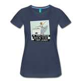 Funny women's T-shirt: Do the laundry - premium women's short-sleeve tee - navy