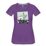Funny women's T-shirt: Do the laundry - premium women's short-sleeve tee - purple