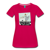 Funny women's T-shirt: Do the laundry - premium women's short-sleeve tee - dark pink