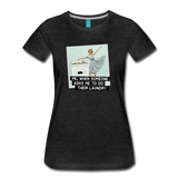 Funny women's T-shirt: Do the laundry - premium women's short-sleeve tee - charcoal gray