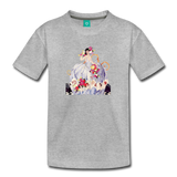 Princess in a beautiful ball gown - vintage graphic on a kids' premium T-shirt - heather gray
