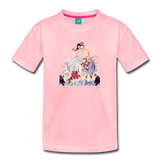 Princess in a beautiful ball gown - vintage graphic on a kids' premium T-shirt - pink