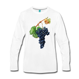 Vintage wine grapes on a premium unisex long-sleeve shirt - white