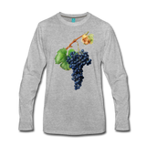 Vintage wine grapes on a premium unisex long-sleeve shirt - heather gray
