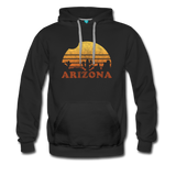 ARIZONA hoodie: Vintage-style distressed graphic on a premium unisex hoodie - black
