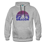OREGON hoodie: Vintage-style distressed graphic on a premium unisex hoodie - heather gray