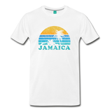 JAMAICA T-shirt: Vintage-style distressed graphic on a premium unisex shirt