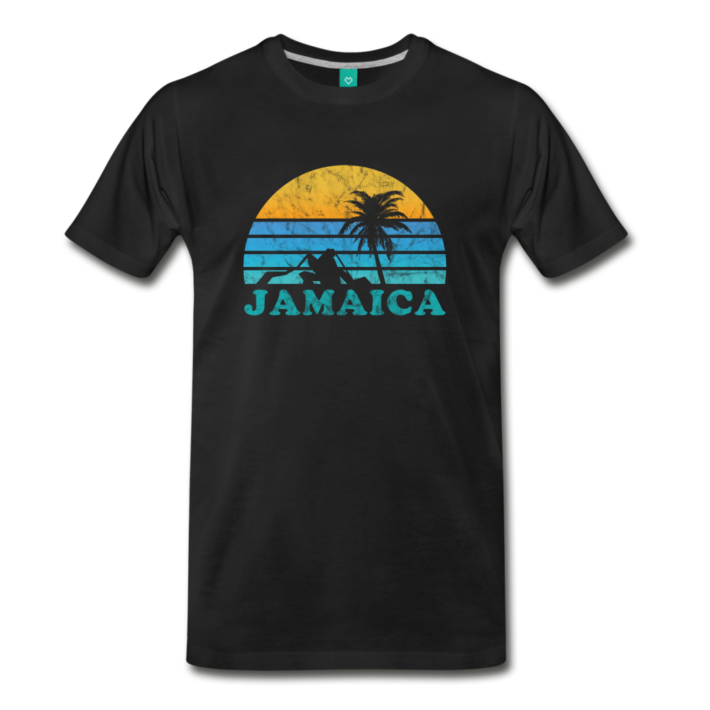 JAMAICA T-shirt: Vintage-style distressed graphic on a premium unisex shirt - charcoal gray ARIZONA state T-shirt: Vintage-style distressed graphic on a premium unisex shirt - black