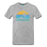 JAMAICA T-shirt: Vintage-style distressed graphic on a premium unisex shirt - charcoal gray ARIZONA state T-shirt: Vintage-style distressed graphic on a premium unisex shirt - heather gray