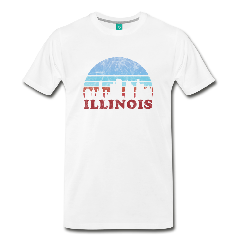 ILLINOIS state T-shirt: Vintage-style distressed graphic on a premium unisex shirt - charcoal gray ARIZONA state T-shirt: Vintage-style distressed graphic on a premium unisex shirt - white