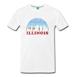 ILLINOIS state T-shirt: Vintage-style distressed graphic on a premium unisex shirt