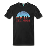 ILLINOIS state T-shirt: Vintage-style distressed graphic on a premium unisex shirt - charcoal gray ARIZONA state T-shirt: Vintage-style distressed graphic on a premium unisex shirt - black