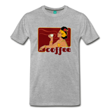 Vintage coffee lover graphic on a premium unisex T-shirt - heather gray