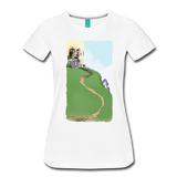 Step back a century with this cute vintage scene on a women's premium t-shirt - white