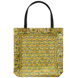 Moraga tote bags with a cheerful vintage floral pattern - Available in 4 color schemes
