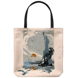 Vintage Statue of Liberty print from 1923 on a handy tote bag