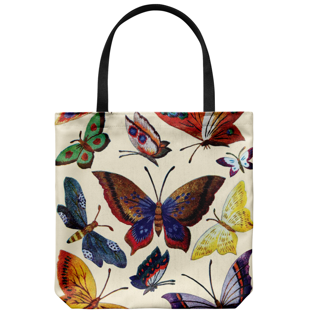Colorful classic butterfly lover's tote bag
